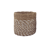 Anderson Pot - Plaited Natural White