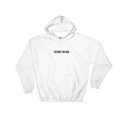Secure The Bag White Hoodie