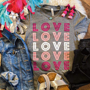 LOVE LOVE LOVE Tee-Four Sisters Boutique