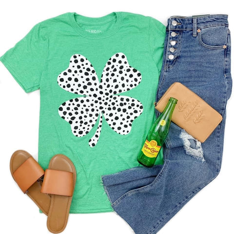 Dalmatian Shamrock Tee ***PREORDER***-Four Sisters Boutique