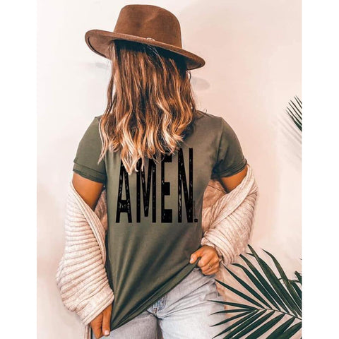 Amen Tee ***PREORDER***-Four Sisters Boutique