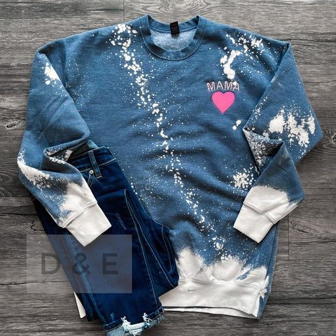 Mama Bleached Sweatshirt ***PREORDER***-Four Sisters Boutique