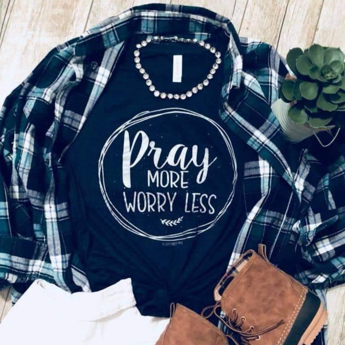 Pray More Tee-Four Sisters Boutique