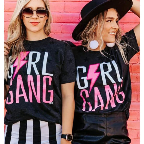Girl Gang Tee-Four Sisters Boutique