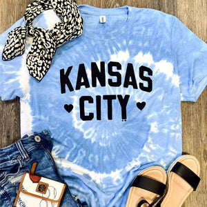 Kansas City Tie Dye Tee ***PREORDER***-Four Sisters Boutique