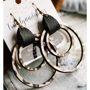 Double Hoop Earrings-Four Sisters Boutique