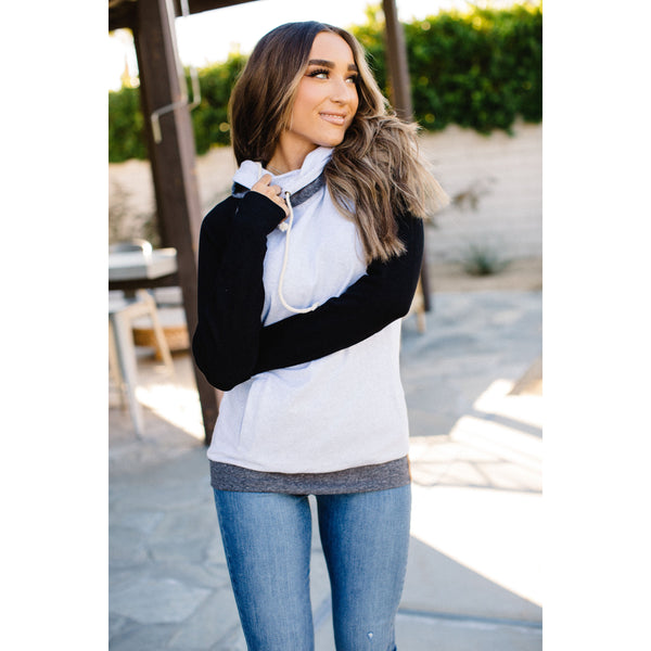Ampersand Avenue Double Hoodie - Monochrome-Four Sisters Boutique
