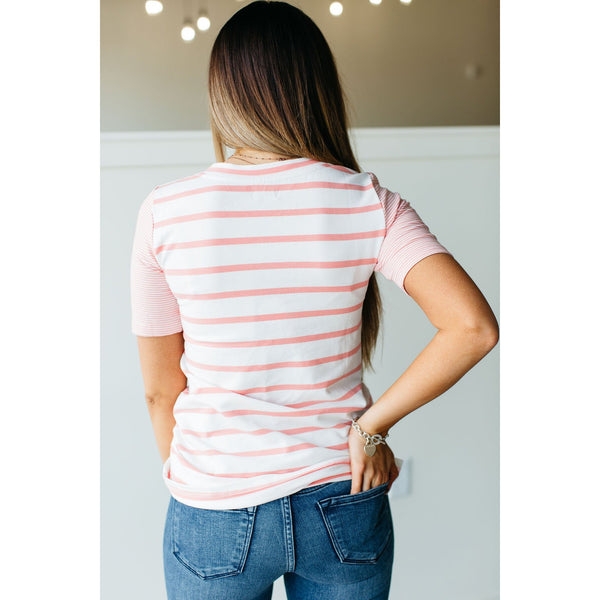 Ampersand Avenue - Tiffany Tee in Coral-Four Sisters Boutique