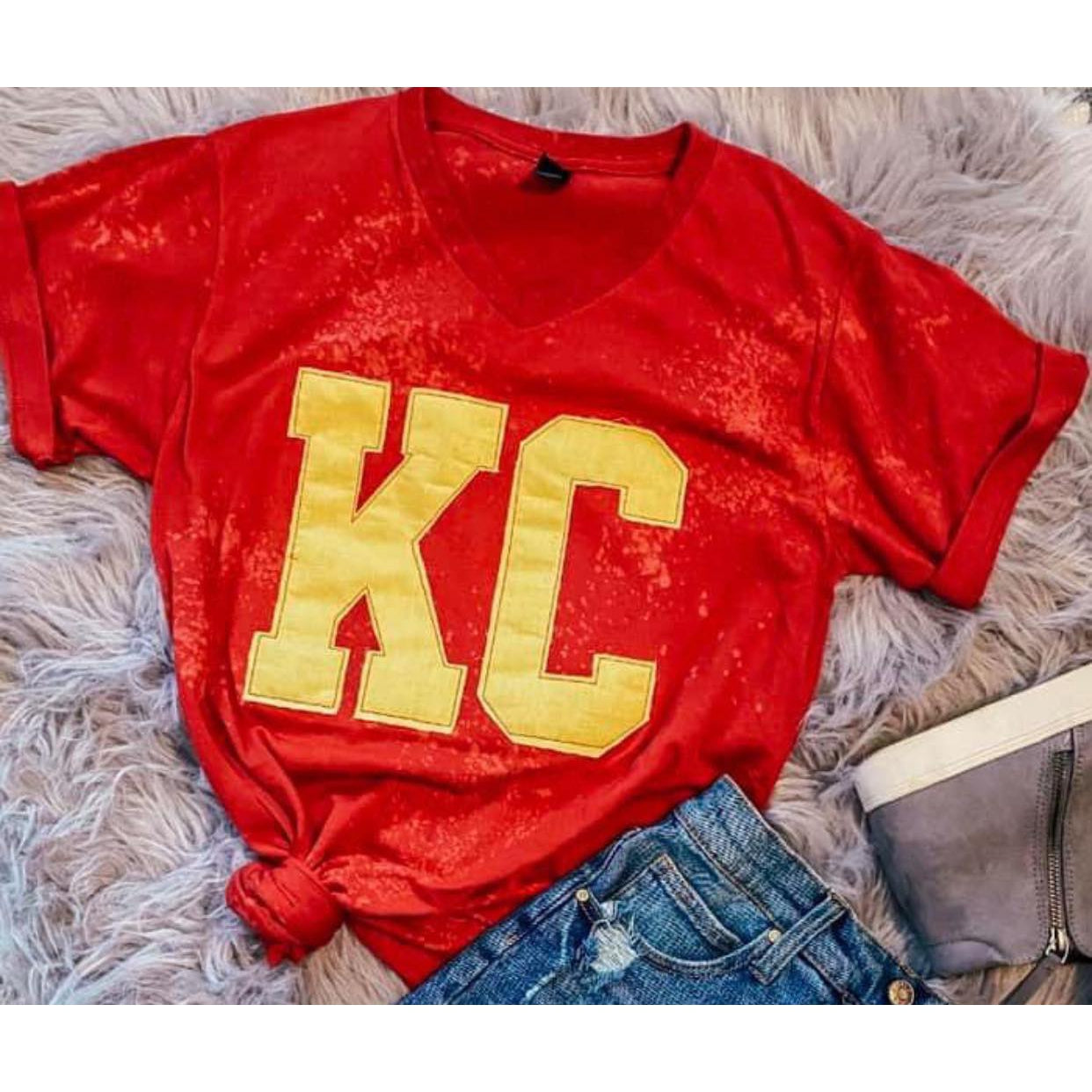 ADULT - Bleached KC Tee ***PREORDER***-Four Sisters Boutique