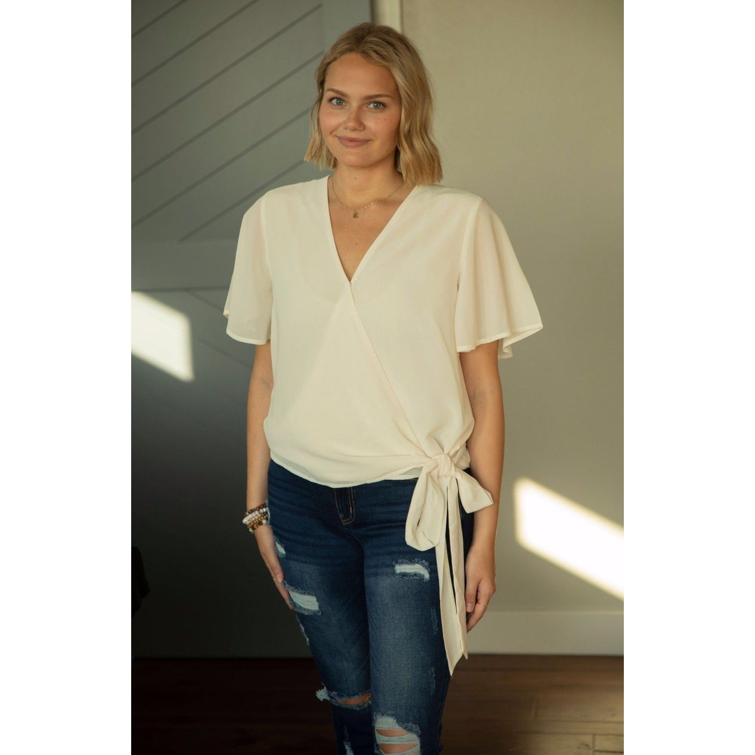 Together Again Top in Cream-Four Sisters Boutique