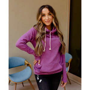 Ampersand Avenue Double Hoodie - Amethyst-Four Sisters Boutique
