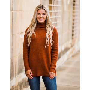 Fall in Love Rust Sweater-Four Sisters Boutique