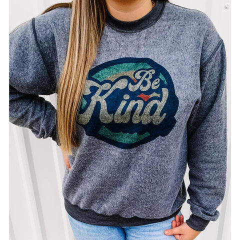 Be Kind Retro Sweatshirt ***PREORDER***-Four Sisters Boutique