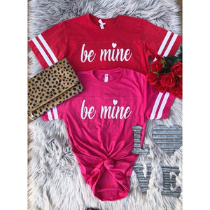 Be Mine Varsity Tee-Four Sisters Boutique