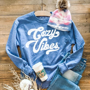 Cozy Vibes Sweatshirt-Four Sisters Boutique