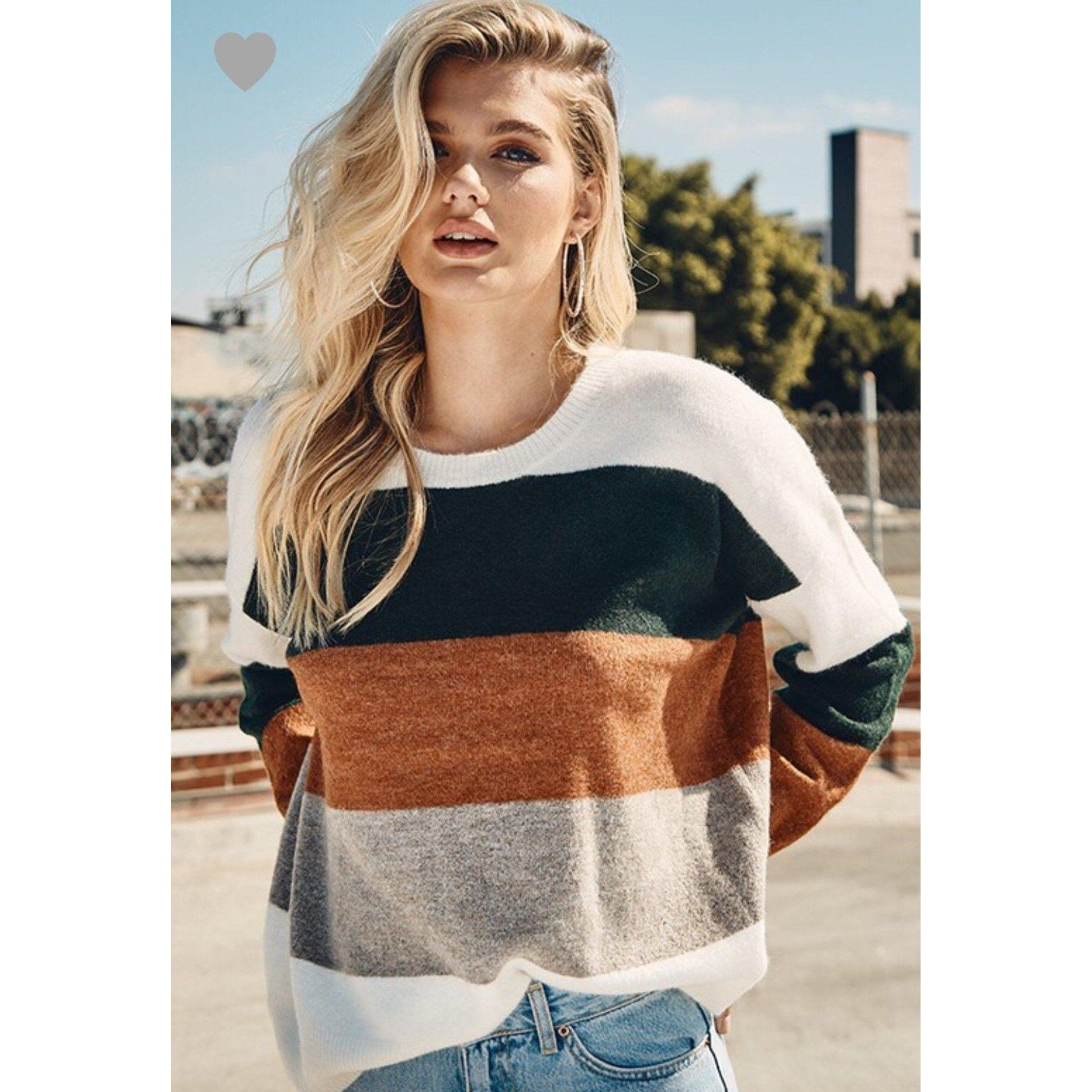 Holidays Are Calling Colorblock Sweater-Four Sisters Boutique