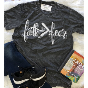 Faith > Fear Tee-Four Sisters Boutique