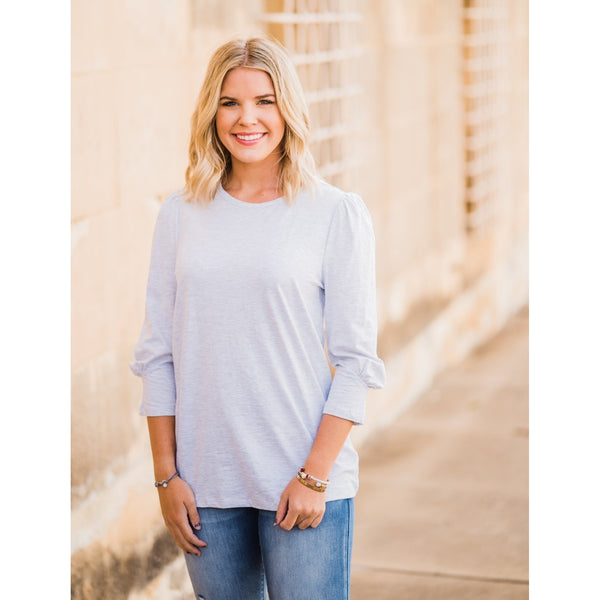 Puff Sleeve Top-Four Sisters Boutique