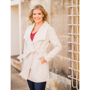 Off to a Good Start Cream Coat-Four Sisters Boutique