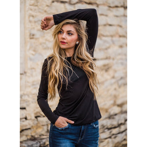 Favorite Long Sleeve Top in Black-Four Sisters Boutique