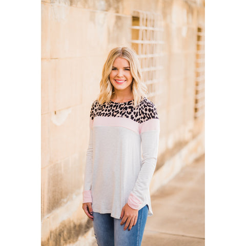 Block of Leopard Top-Four Sisters Boutique