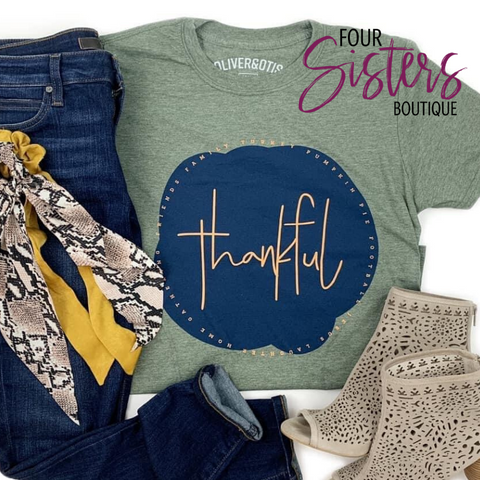 Thankful Tee ***PREORDER***-Four Sisters Boutique