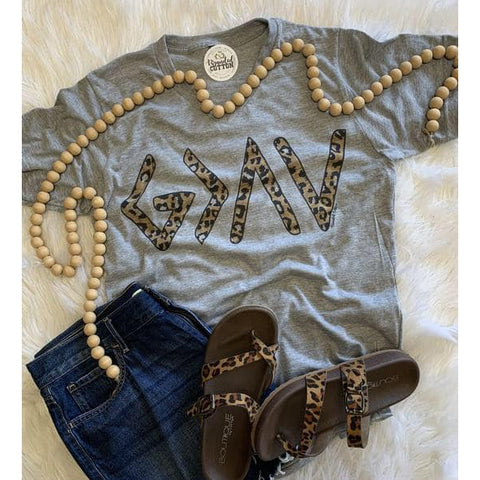 God is Greater Leopard Tee-Four Sisters Boutique