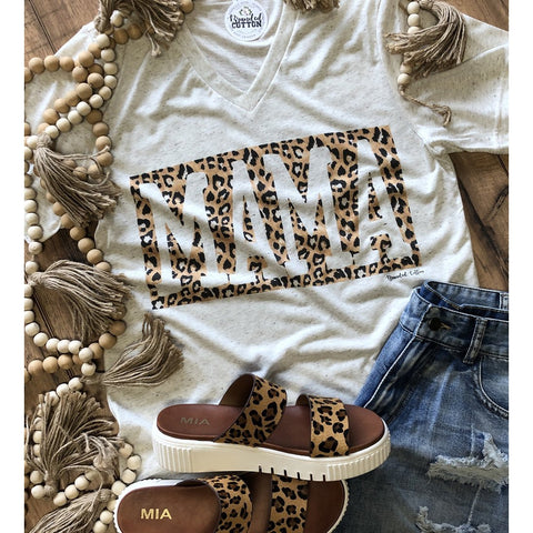 Leopard Mama Tee-Four Sisters Boutique