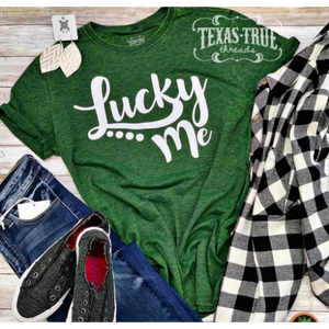 Lucky Me Tee-Four Sisters Boutique