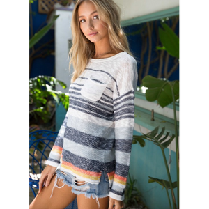 Melody Multi-Striped Sweater-Four Sisters Boutique