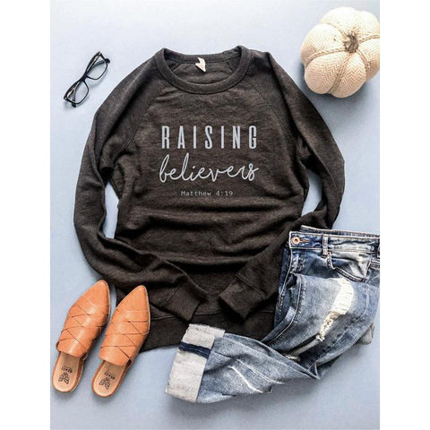 Raising Believers French Terry Raglan ***PREORDER***-Four Sisters Boutique