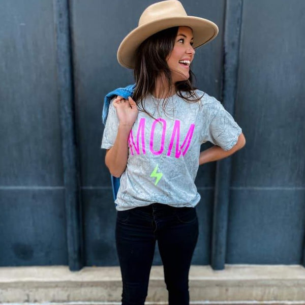 Mom Rocks Tee-Four Sisters Boutique