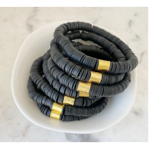 Color Pop Bracelet - Black-Four Sisters Boutique