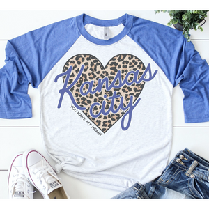 Kansas City - You Have My Heart Raglan - Royal-Four Sisters Boutique