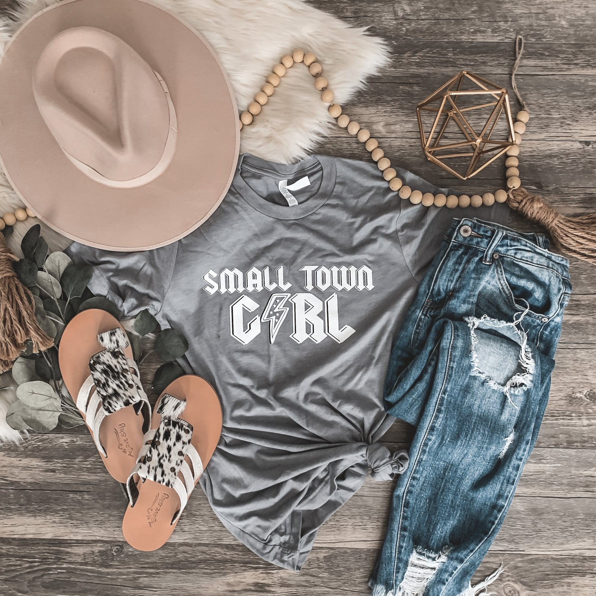 Small Town Girl Tee-Four Sisters Boutique