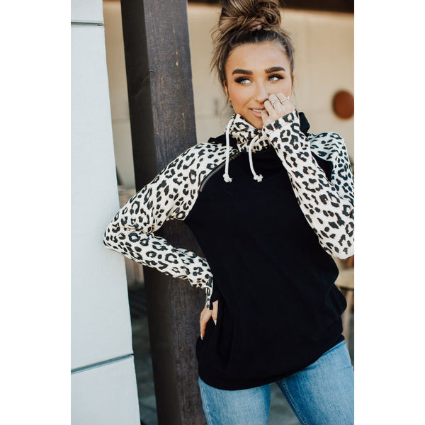 Ampersand Avenue Double Hoodie - On the Prowl-Four Sisters Boutique