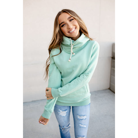 Ampersand Avenue SingleHood Sweatshirt in Mint-Four Sisters Boutique