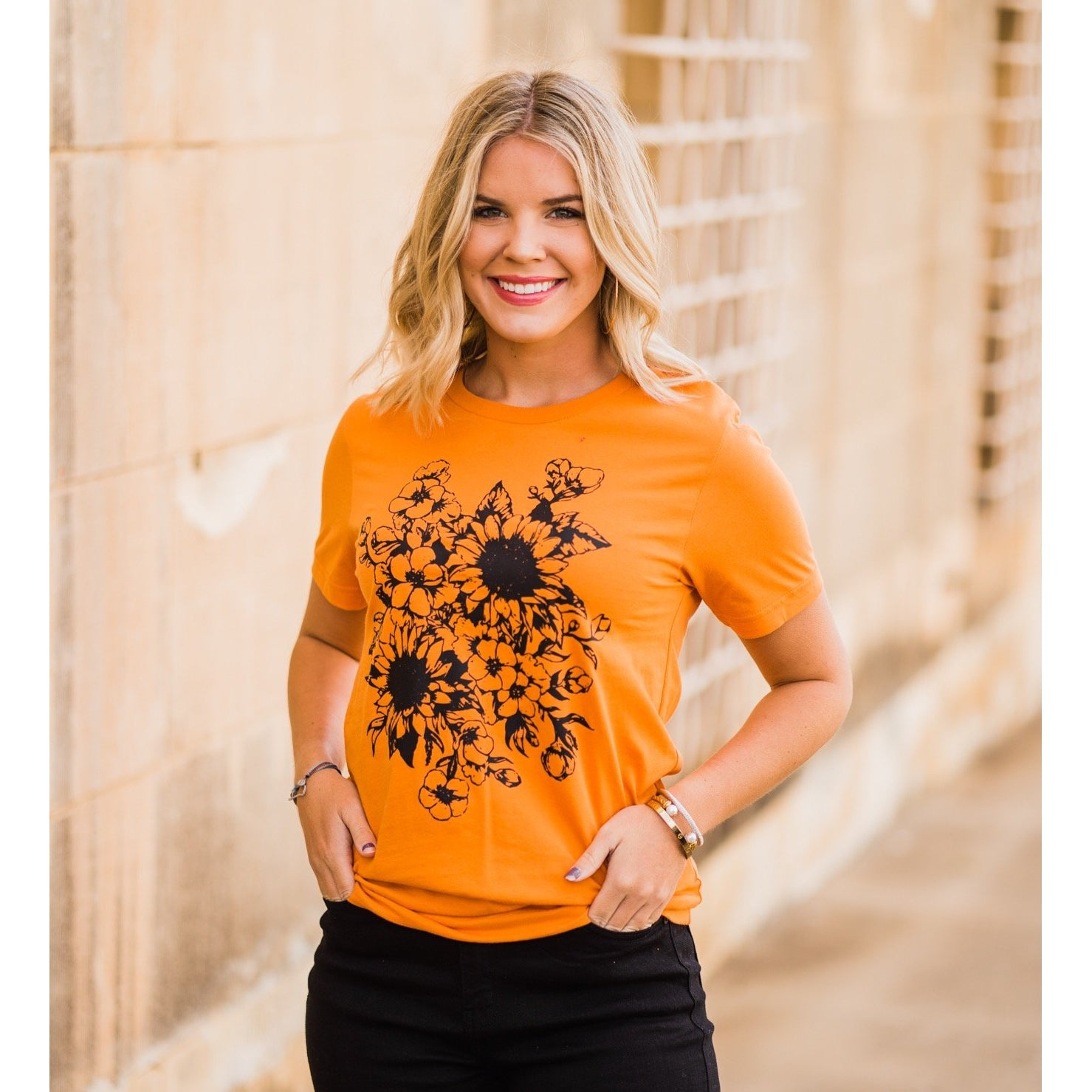 Sunflower Tee-Four Sisters Boutique