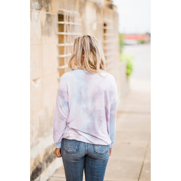 Pastel Tie Dye Top-Four Sisters Boutique