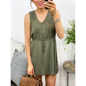 Every Moment Dress in Olive-Four Sisters Boutique