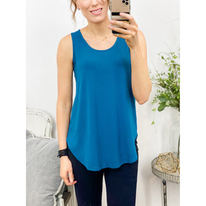 Teal Relaxed Fit Tank-Four Sisters Boutique