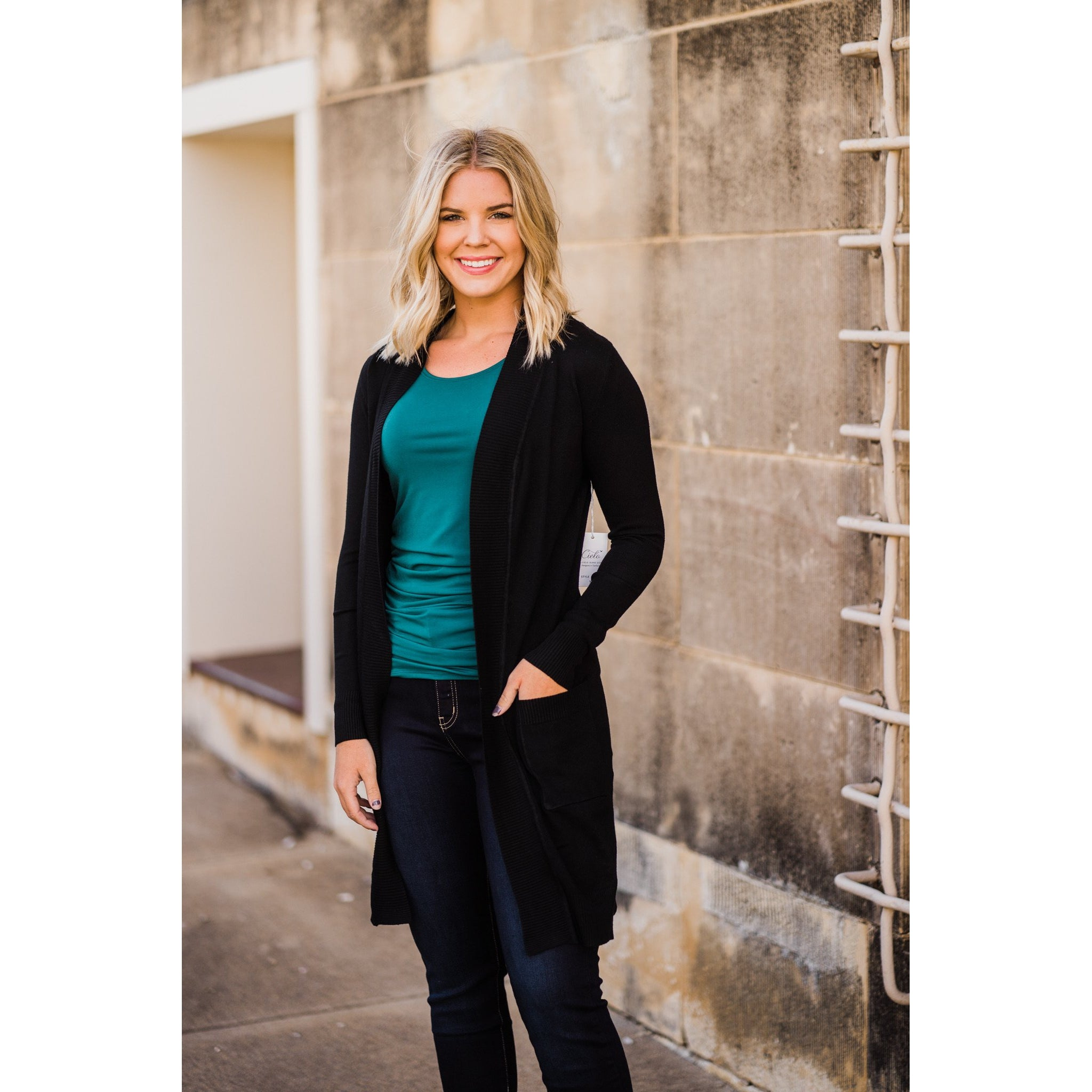 All Things Lovely Cardigan in Black-Four Sisters Boutique