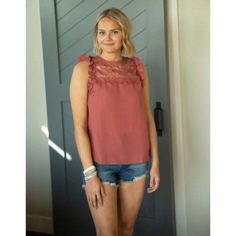 Berry Lace Insert Tank-Four Sisters Boutique