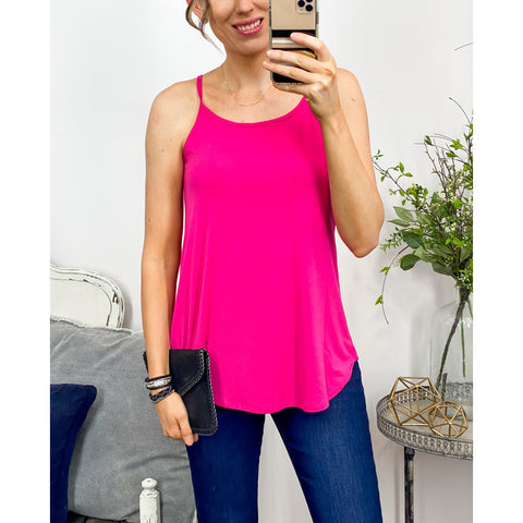 Reversible Tank in Hot Pink-Four Sisters Boutique