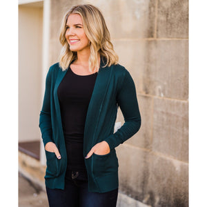 Everyday Cardigan in Dark Teal-Four Sisters Boutique