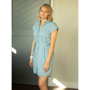 Summer Days Chambray Dress-Four Sisters Boutique