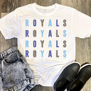 Royals Leopard Tee ***PREORDER***-Four Sisters Boutique