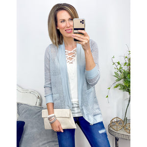 Mist Cocoon Cardigan-Four Sisters Boutique