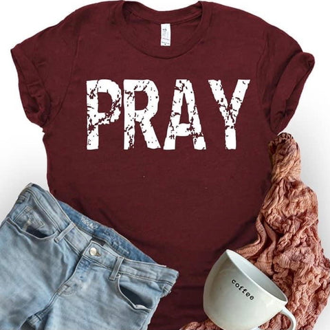Pray Tee ***PREORDER***-Four Sisters Boutique