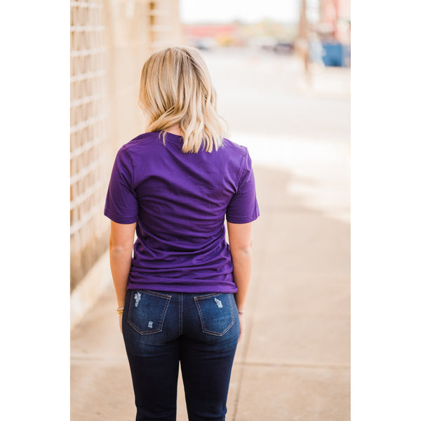 Thunder Puff Paint Tee-Four Sisters Boutique